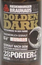 Dolden Dark Etikett