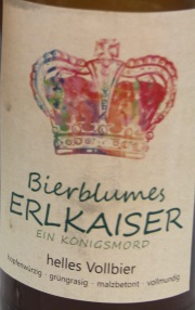 Bierblumes ERLKAISER Etikett