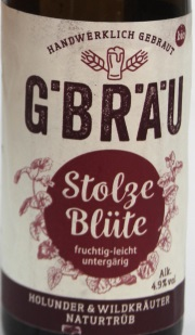 G.Bräu Stolze Blüte Etikett