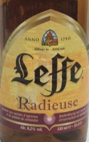 Leffe Radieuse Etikett