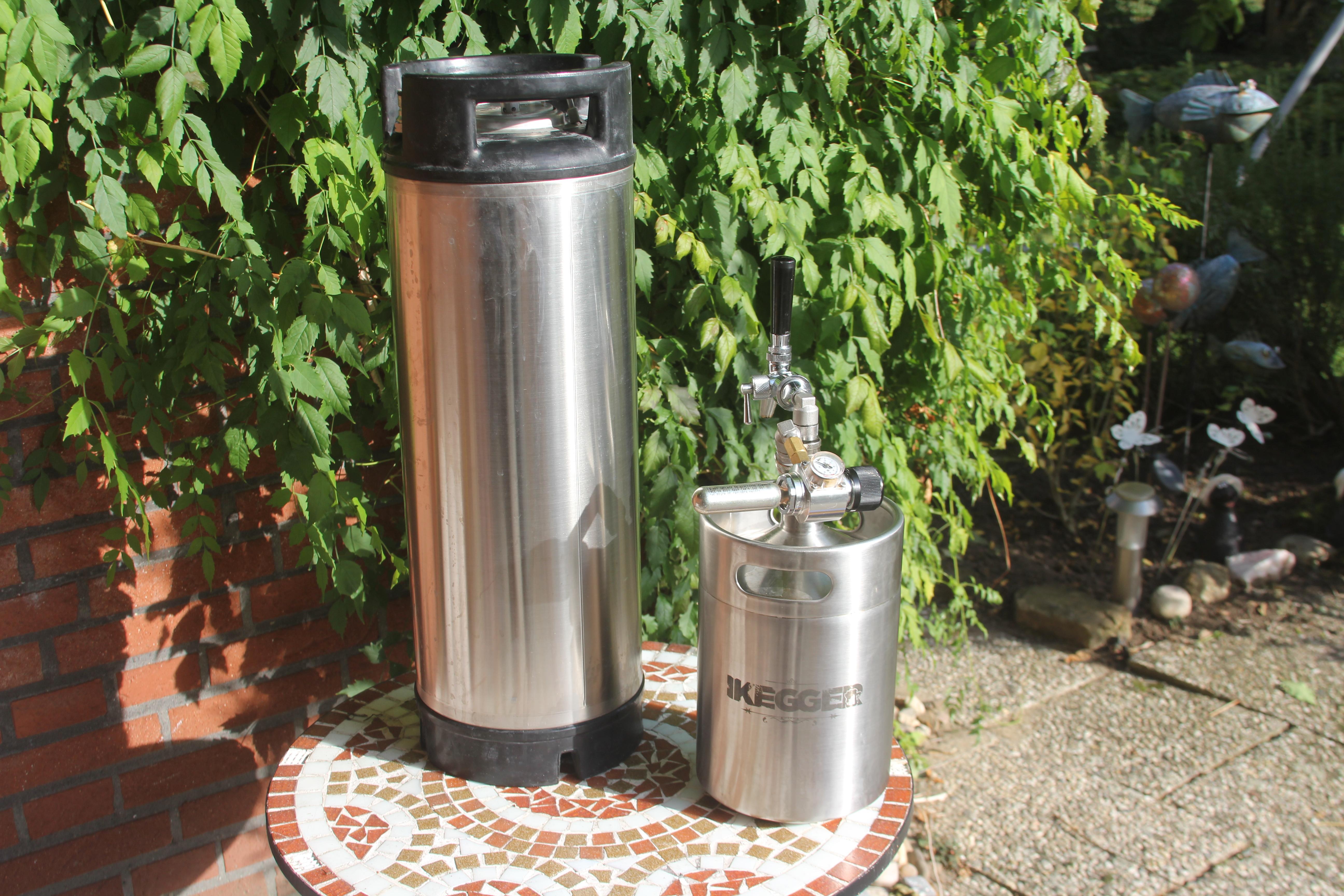 2l Bügelflasche aus Edelstahl für selbstgebrautes Bier 1l